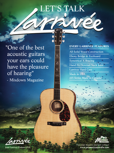 Larrivee Guitars Print Advert